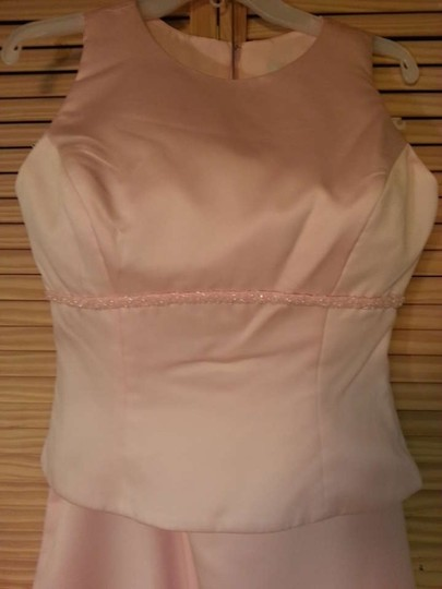 Alfred Angelo Pink Satin 6723 Formal Dress Size 10 (M)