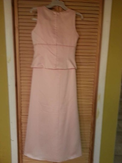 Alfred Angelo Pink Satin 6723 Formal Bridesmaid/Mob Dress Size 10 (M)