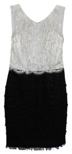 Kay Unger Sparkle Black & White Lace Dress