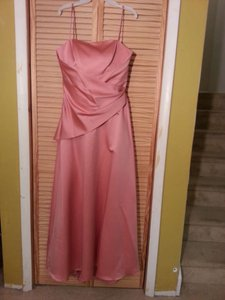 Alfred Angelo Shrimp Satin 6622 Formal Bridesmaid/Mob Dress Size 14 (L)