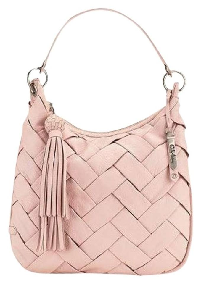 Cole Haan Leather Tassels Woven Purse Baby Hobo Bag
