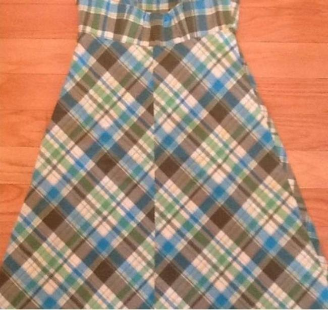 Gap short dress Green Plaid on Tradesy