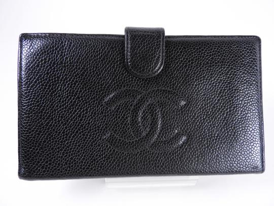 Chanel CHANEL CC Wallet Purse Black Caviar Leather