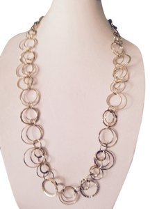 Daisy Fuentes Double Circle & Texture Long Necklace