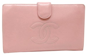 Chanel Chanel Caviar Limited Edition PINK Ed. Bifold Long Check Luxury Wallet
