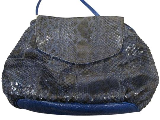 Carlos Falchi Snakeskin Cross Body Bag
