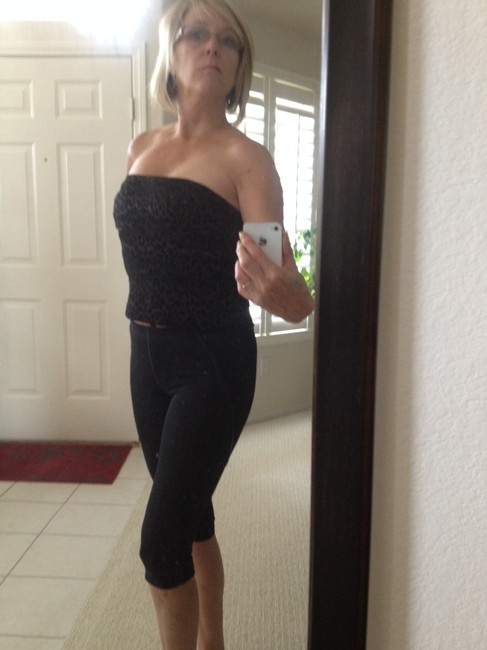 Guess Strapless Top black