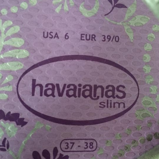 Havaianas Flip Flops Summer Silver/lavender and purple Flats