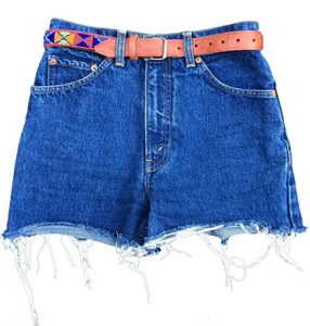 Levi's Jeans Boho Bohemian Summer Shorts Blue denim