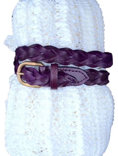 Motif 56 motif 56 purple Leather lauren belt