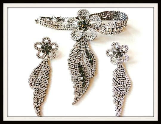 Other Stunning Statement Rhinestone Necklace and Earring Set