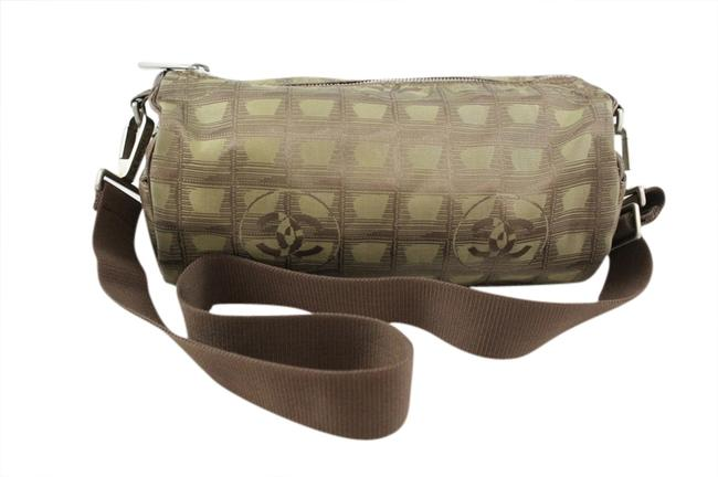 Item - Olive Green Line Shoulder Bag