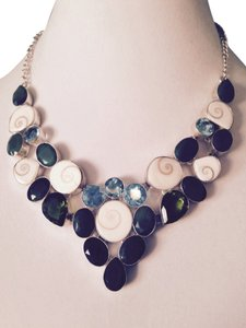 Other Multi-Gem & Shell Sterling Silver Statement Necklace
