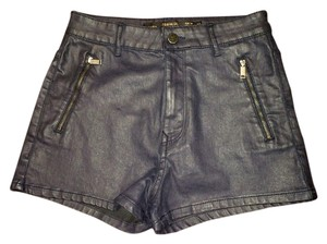 Zara Waxed Mini/Short Shorts Black
