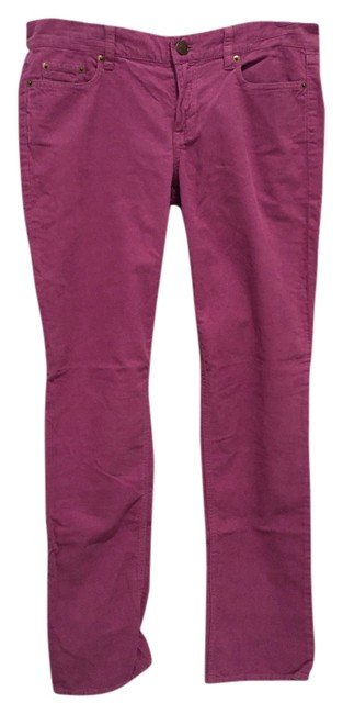 J.Crew Straight Pants Purple courduroy