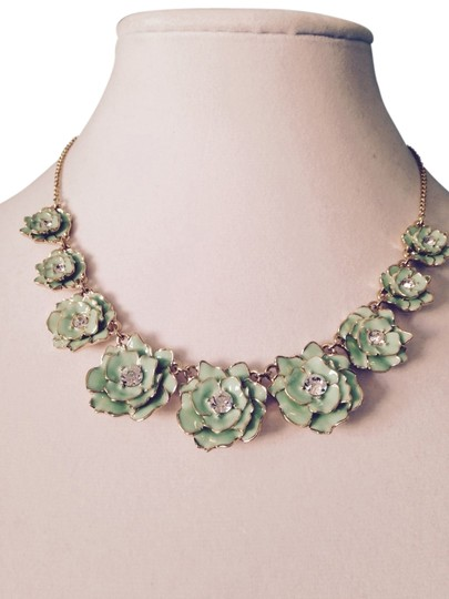 Preload https://img-static.tradesy.com/item/3385675/kate-spade-greengold-enamel-and-crystal-multi-flower-necklace-0-0-540-540.jpg