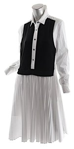 White with Black Maxi Dress by Pink Tartan