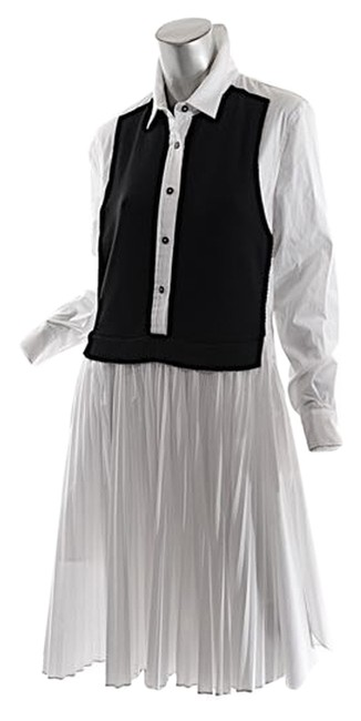 Preload https://item3.tradesy.com/images/pink-tartan-white-with-black-whiteblack-cotton-stretch-pleated-wknit-us10-mid-length-casual-maxi-dre-3385702-0-0.jpg?width=400&height=650