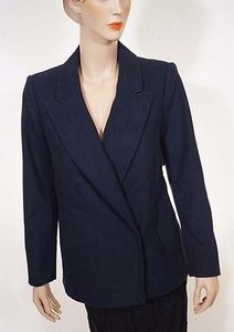 DKNY Dknyc Donna Karen Womens Nightfall Navy Wool Delivery Coat Blazer Jacket