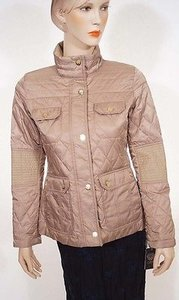 Vince Camuto G8341x Womens Mocha Quilted Coat Beige Jacket