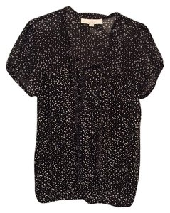 Ann Taylor LOFT Top Black and white polka dot