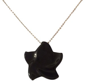 Tiffany & Co. Tiffany & Co. Large Star Black Jade Necklace
