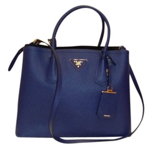 Prada Saffiano Tote in Blue (Inchiostro, Bluette)