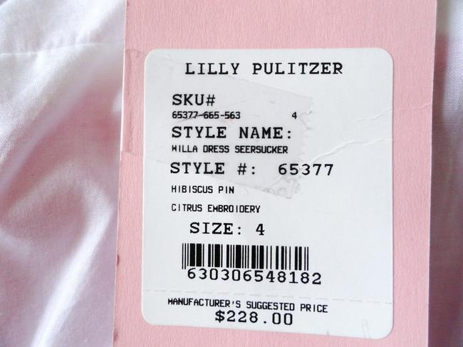 "Lilly Pulitzer short dress ""Willa Citrus"" Seersucker Embroidered Pink and White Whimsical Vintage New Halter Collectible on Tradesy"