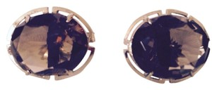 Embellished by Leecia Faceted Smoky Topaz In Sterling Silver Cuff Links, 23 Carats