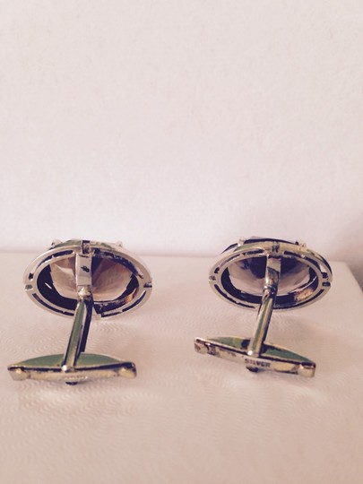 Other Embellished by Leecia Faceted Smoky Topaz In Sterling Silver Cuff Links, 23 Carats