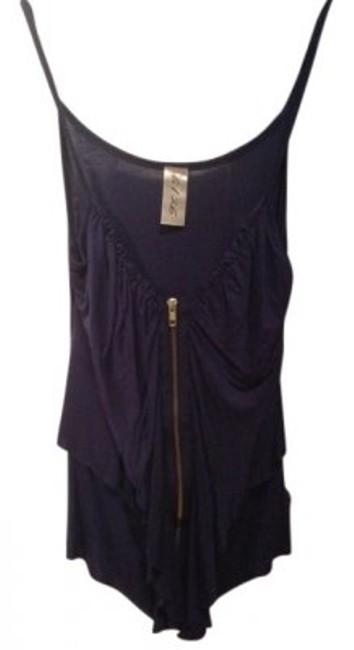 Preload https://item2.tradesy.com/images/6126-navy-blue-with-gold-zipper-tank-topcami-size-4-s-33871-0-0.jpg?width=400&height=650