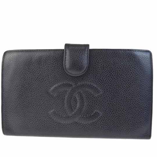 Chanel CHANEL Caviar leather CC Logos long Wallet