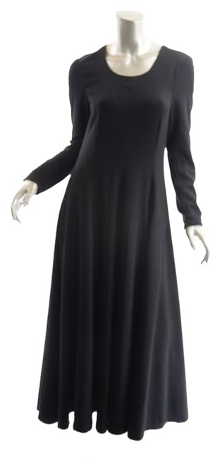 Item - Black Polyester Blend A-line Scoop - 2 - Long Casual Maxi Dress Size 12 (L)