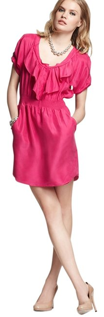 Preload https://item3.tradesy.com/images/rebecca-taylor-electric-raspberry-sleeve-ruffle-front-above-knee-short-casual-dress-size-2-xs-3387622-0-3.jpg?width=400&height=650