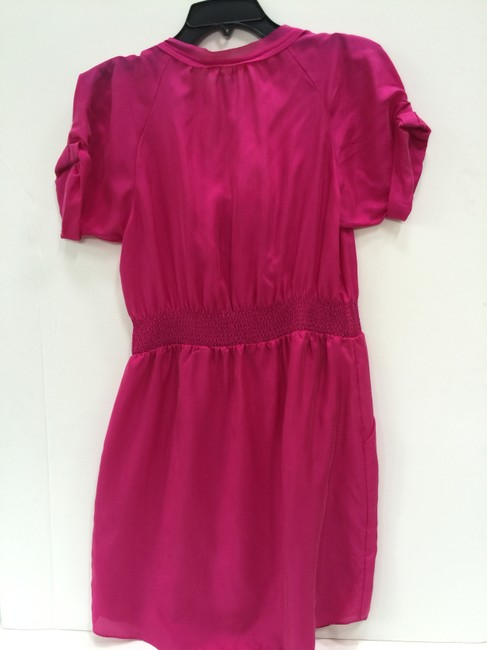 Rebecca Taylor short dress Electric Raspberry Silk Short Sleeve on Tradesy