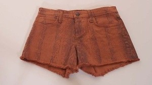JOE'S Jeans Womens Rust Snake Reptile Cut Off Fringe Denim Jean Shorts Brown