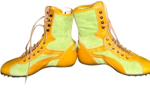 MARE Italian Design Boxing Vintage Lime suede Yellow leather Boots
