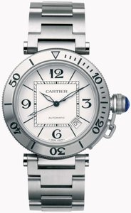 Cartier Authentic Cartier Pasha Automatic SS Watch Unisex