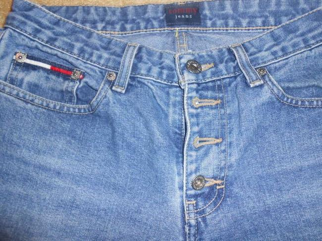 Tommy Hilfiger Straight Leg Jeans-Medium Wash