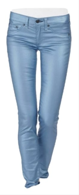 Rag & Bone Metalic Jeans Skinny Pants Blue