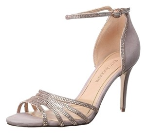 Enzo Angiolini Sparkle Leather Ankle Strap Pink Sandals