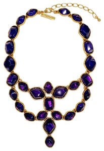 Oscar de la Renta Purple Crystal Necklace