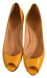 Christian Louboutin Wedge Platform Fashion Yellow Wedges