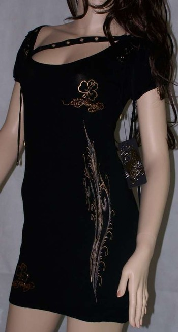 Ed Hardy 80% Rayon 18% Nylon 2% Spandex Dress