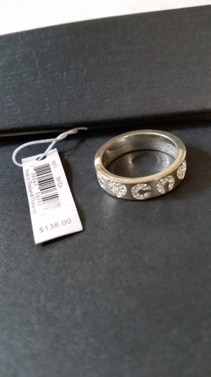 Coach Coach silver tone and Crystal ring