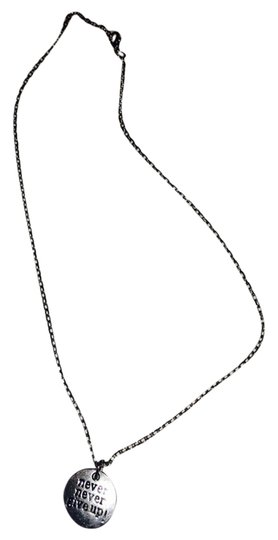 Preload https://img-static.tradesy.com/item/3390787/silver-never-never-give-up-necklace-0-0-540-540.jpg