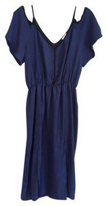 Marabelle short dress Navy Blue V-neck Cut-out Woven Open on Tradesy