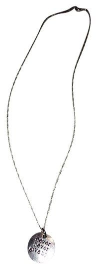Preload https://item2.tradesy.com/images/silver-never-never-give-up-on-sterling-chain-3390871-0-0.jpg?width=440&height=440