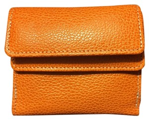 TUSK Small Orange Leather Wallet