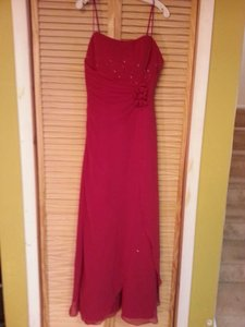 Alfred Angelo Chiffon 6130 Formal Bridesmaid/Mob Dress Size 10 (M)